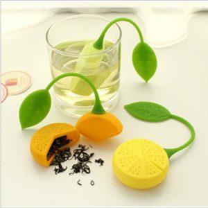 Tea Strainer Silicone Strawberry Lemon Design