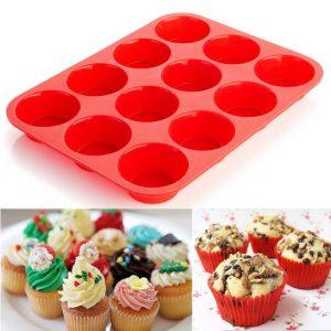 Silicone Mold Muffin Cupcake Baking Pan
