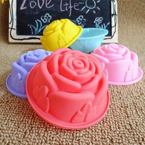 Rose Shape Reusable Cupcake Liners Muffin Cups