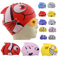 Cute Children Cartoon Swim Caps