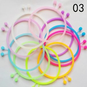 High Elastic Hair Rope Ties Silicone Rubber Band