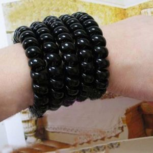 Black Telephone Line Elastic Bands For Hair Ornaments