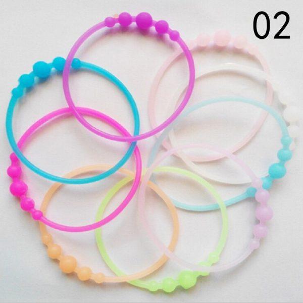 10pcs Lot Fashion High Elastic Hair Rope Ties Silicone