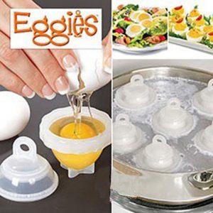 Hard Boil Egg Cooker 6 Eggies Without Shells