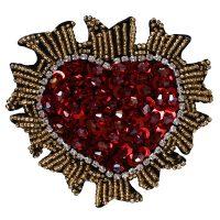 Handmade Beaded Sequin Crystal Heart