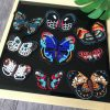 Handmade Beaded Multicolor butterfly