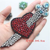 Heart Beaded Patch for Clothing Sewing on Patch