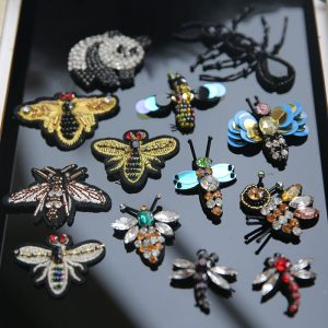 bead bee embroidery patch, diy accessories clothin