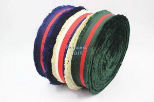 Grosgrain Polyester 3 Color Stripe Ribbon Webbing Bag