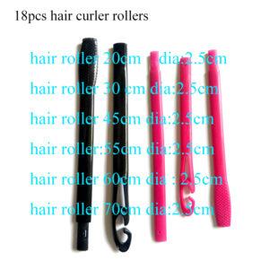 plastic hair rollers