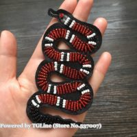 Snake Handmade Sewing on Beaded Patches