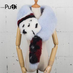 genuine fox fur scarf