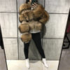 lady raccoon fur jacket