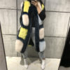 women real fur vest natural